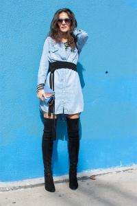 Robe-en-jean-et-cuissardes-look-sexy
