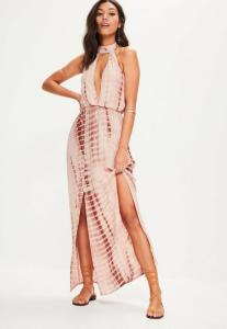 robe-longue-nude-fendue-tie-and-dye